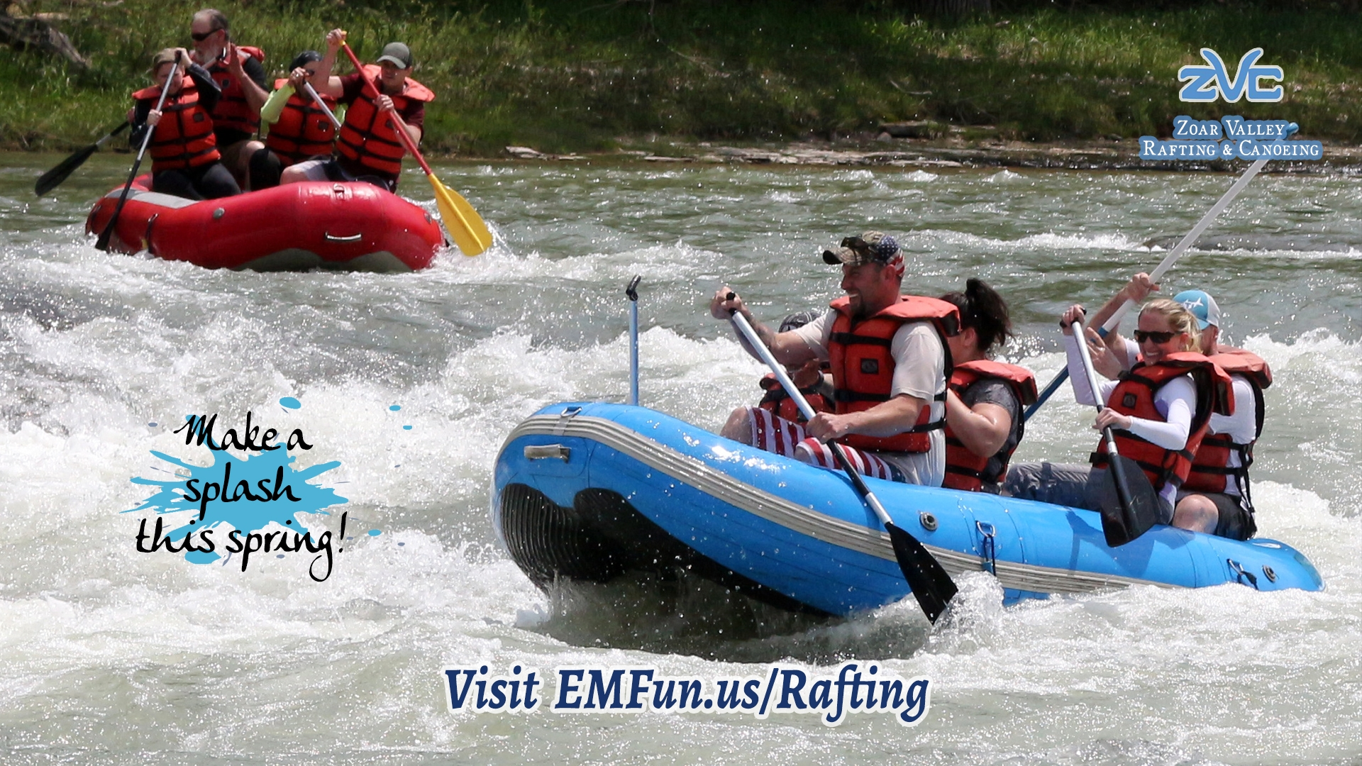 White Water Rafting at Zoar Valley